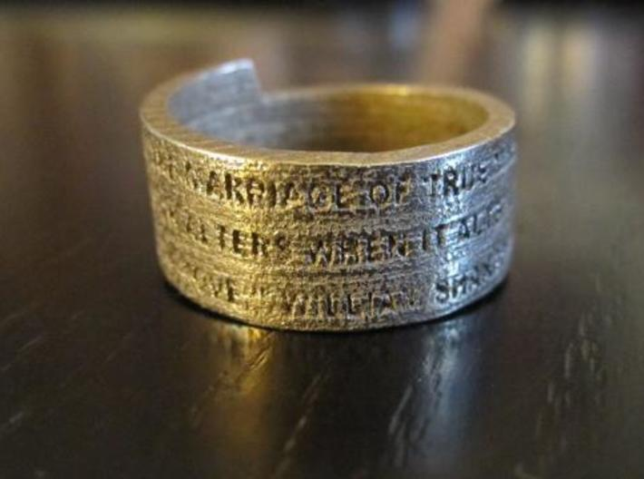 Sonnet Ring 3d printed Ring unpolished 1