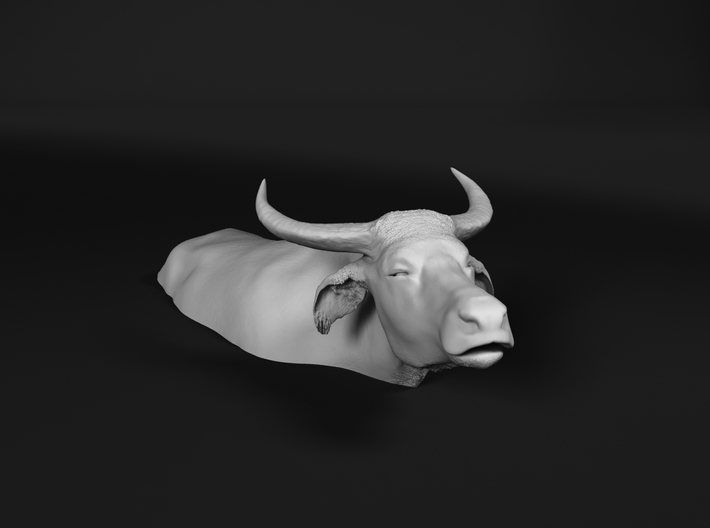 Domestic Asian Water Buffalo 1:25 Lying in Water 1 3d printed