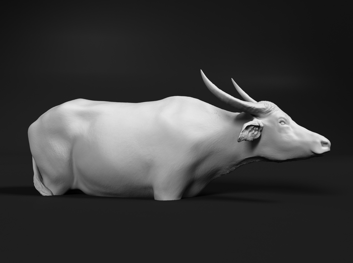 Domestic Asian Water Buffalo 1:16 In Deep Water 3d printed