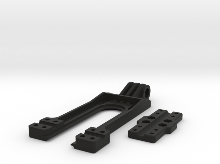 GoPro type compatible mount for Taranis X9D Transm 3d printed