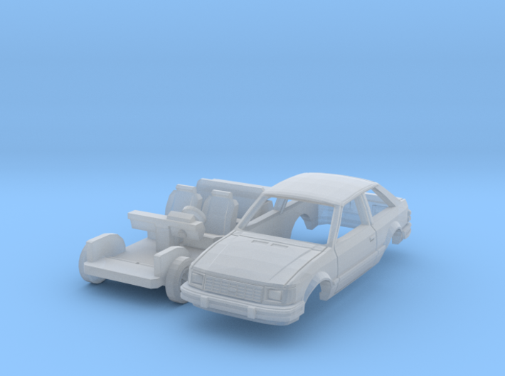 Ford Escort 2-door hatchback (US) (N 1:160) 3d printed