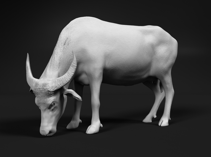 Domestic Asian Water Buffalo 1:64 Grazing Female 3d printed