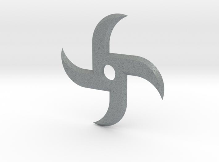 Twisted Ninja Star 3d printed