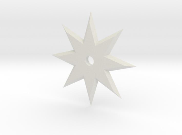 8 Point Ninja Star 3d printed