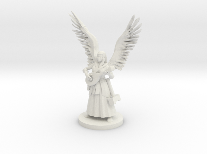 Female Half Celestial Bard 3d printed