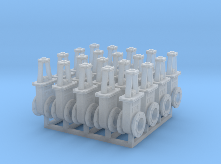 1:48 6in Gate Valve 3b - 20ea 3d printed