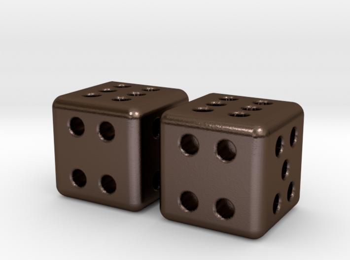 Tiny Metal Dice Set - Micro D6 3d printed