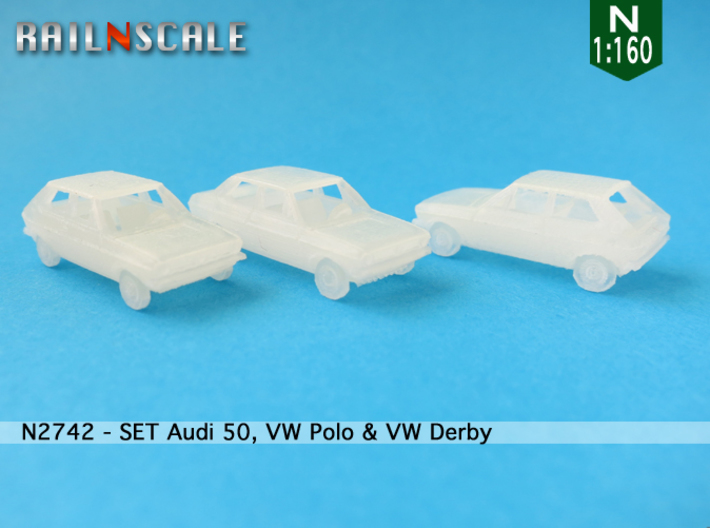 SET Audi 50, VW Polo & VW Derby (N 1:160) 3d printed