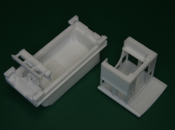 Parts for 2-8-0 conversion A (cab,pilot,tender) HO 3d printed Remove the cab first