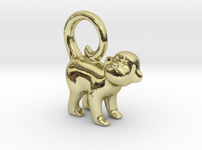 Monkey Earring 3d printed