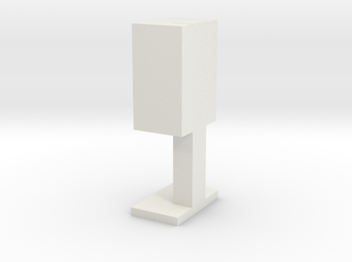 Payphone Booth- HO Scale 3d printed