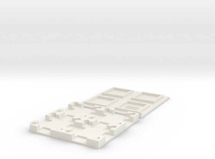 MEMS Chip Carrier 2x2 Tray (15mm square die size) 3d printed