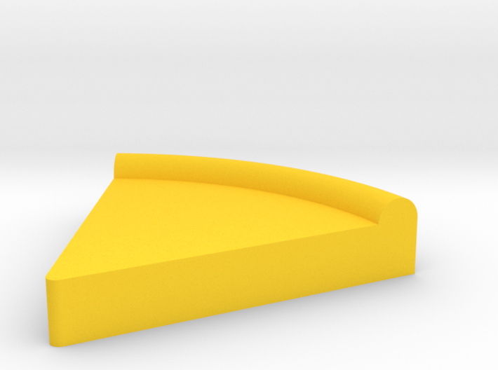 Large Pizza Pie Slice Game Piece 3d printed