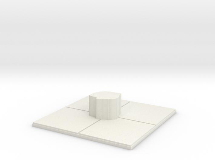 2x2_rough_centerpillar 3d printed