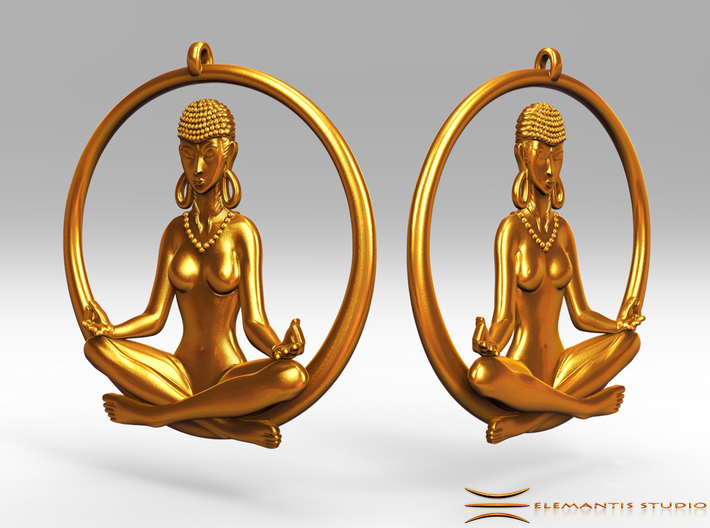 Sukhasana Yogini Earrings 4.5cm 3d printed these earrings require earring hooks, which are not included...