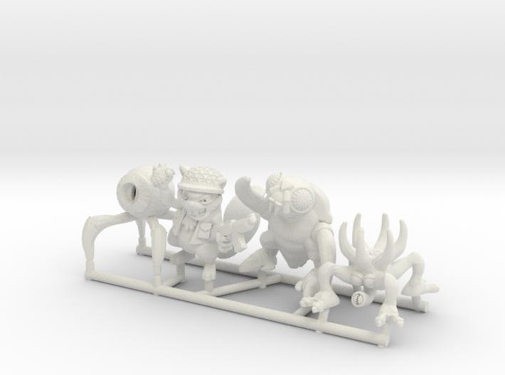 Mutant Squad (Set of 4) 3d printed