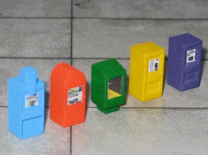 US107 - News Paper Box Set (H0) 3d printed News Paper Box Set