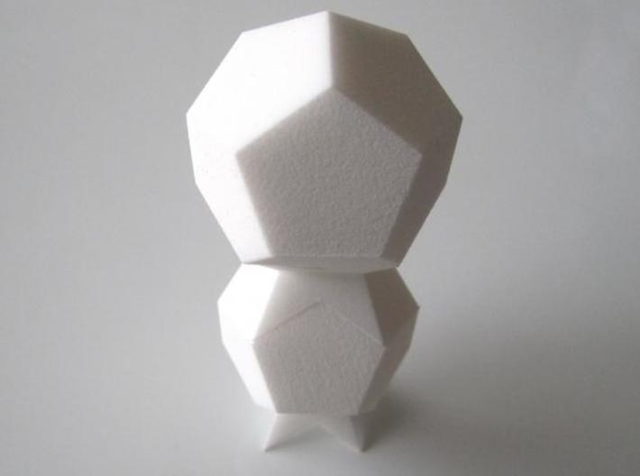 Space Filling Polyhedra 3d printed 2 of each models stacked