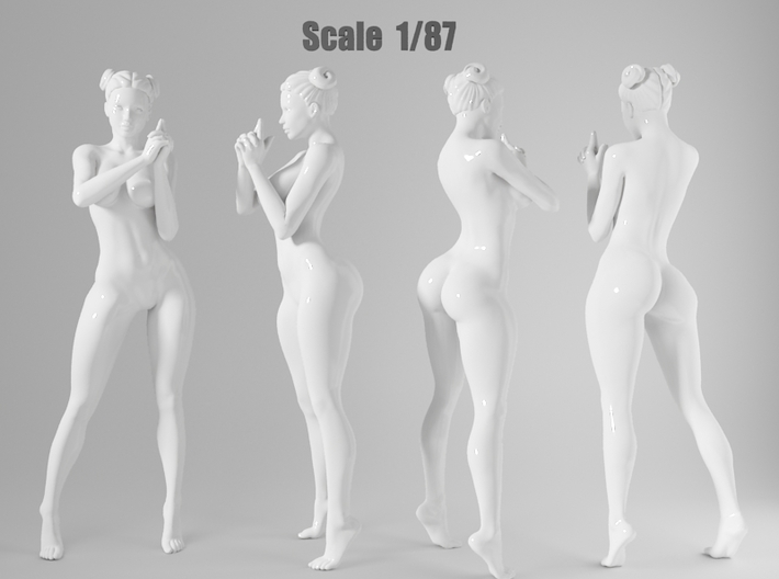1:87 Sexy little girl in 2cm-010 3d printed