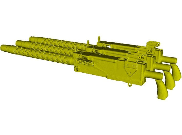 1/18 scale WWII Browning M-1919A4 machineguns x 3 3d printed