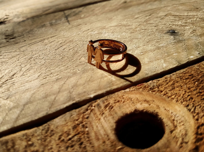 Love Collection Rings - Man and Woman Ring 3d printed