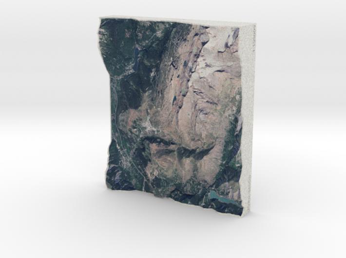 Alpe d'Huez, France, 1:100000 3d printed