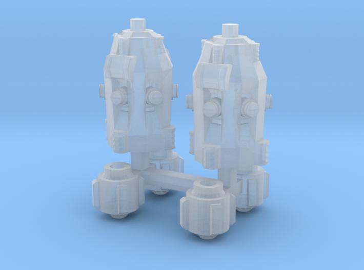 1/87 Scale Camp Plasma Generator Set 3d printed