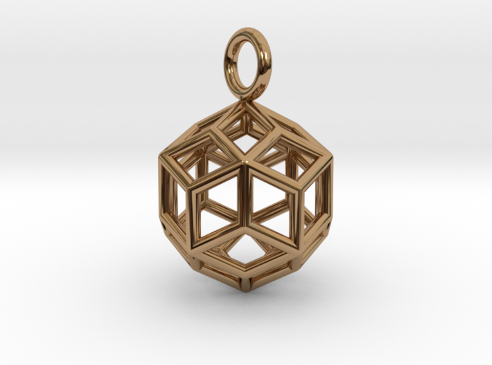 Pendant_Rhombic-Triacontahedron 3d printed