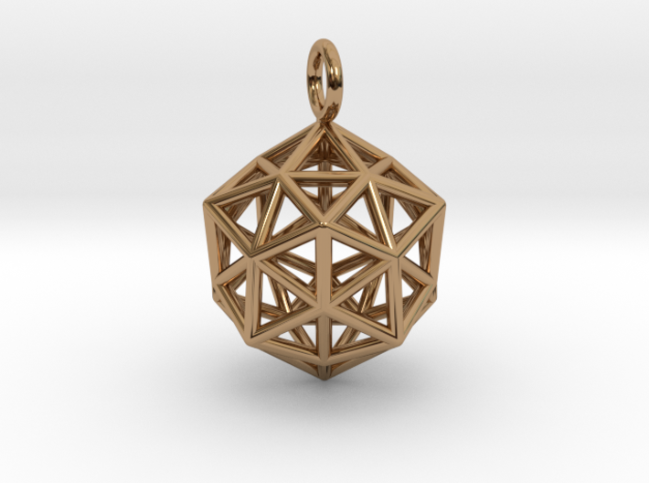 Pendant_ Cuboctahedron-Icosahedron 3d printed