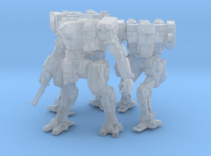 Neugen Combat Team of 3 walkers (2 inch version) 3d printed