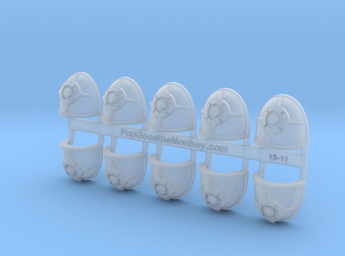 Sorcerer Sun - G4 Shoulder Pads x10 3d printed