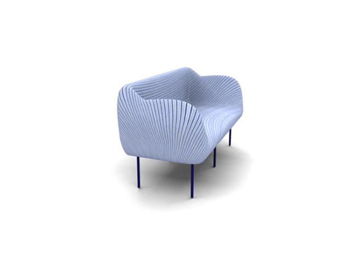 Spiral-Couch 3d printed Pic-4