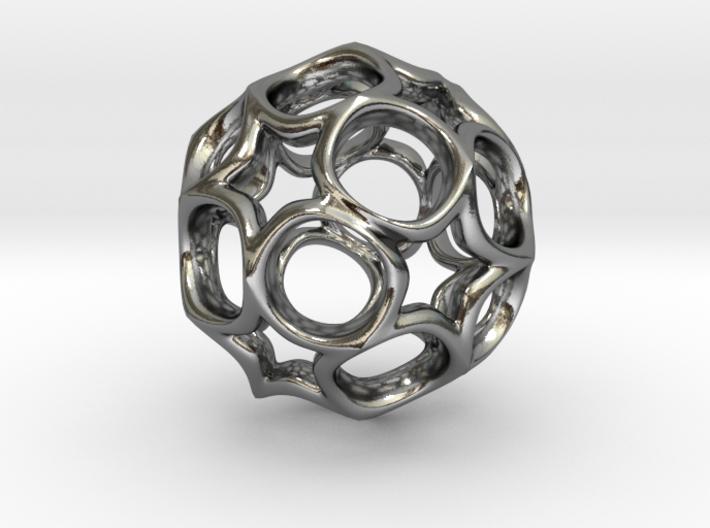 Truncated icosahedron 2.5CM 3d printed