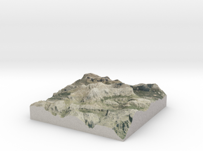 "Puig Major Map, Majorca/Mallorca Spain: 8""  3d printed"