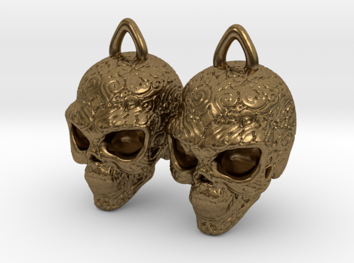 Day of the Dead Earrings 2.5cm 3d printed