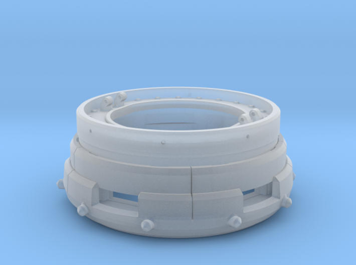 1/12th Panzer IV Ausf D Cupola Part A 3d printed