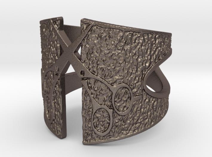 Crossed Scissors Ring 3d printed