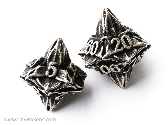 Floral Dice – D10 Gaming die 3d printed The d10 compared to the 10d10