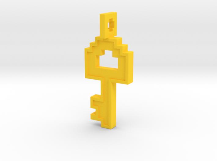 8-bit Key Pendant 3d printed