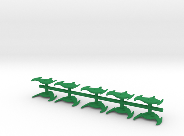 "Romulan Bird-of-Prey cruisers 1/2"" 10 pack 3d printed"
