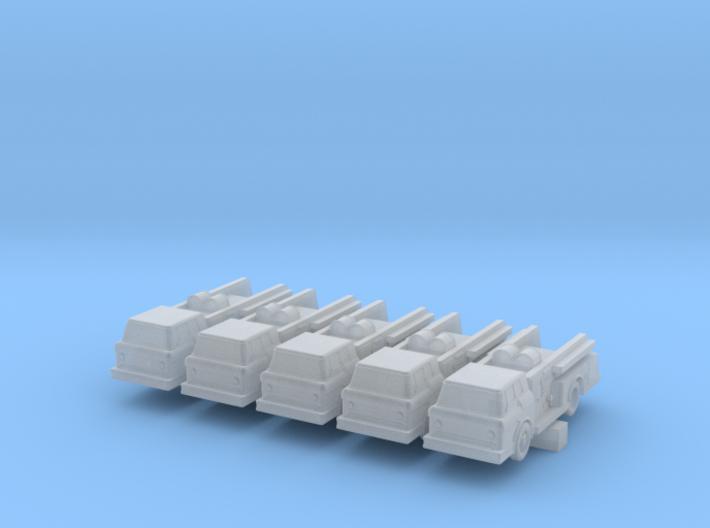 Fire Truck II - set of 5 - 1:700scale 3d printed