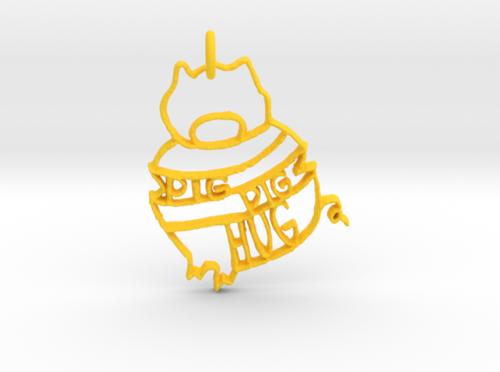 Pig Pig Hug 3d printed