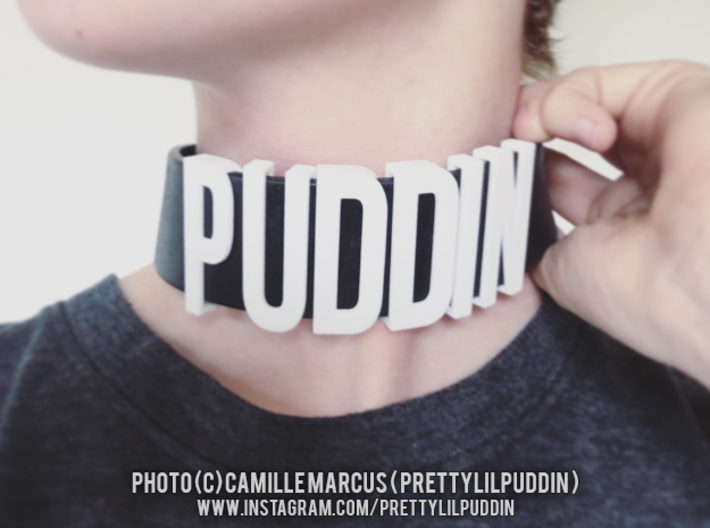 Choker Slide Letters (4cm) - Letter P 3d printed Sliding letters bought and worn by a customer
