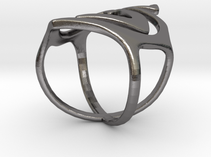 Swirl ring size 7 3d printed