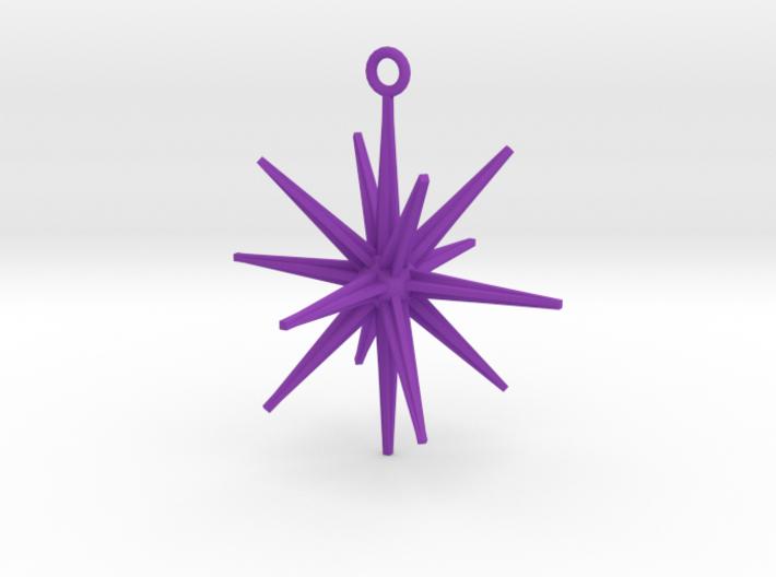 Sputnik Christmas Ornament 3d printed