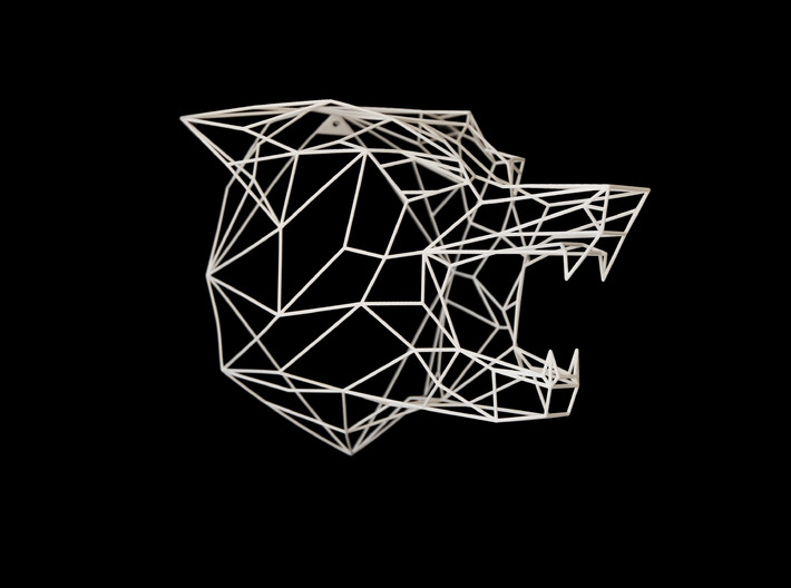Wire Frame Wolf decor-L 3d printed This is an XL size photo