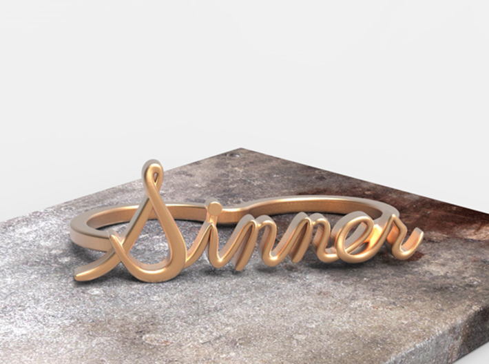 NEW! Sinner Script Ring (2-Finger) 3d printed
