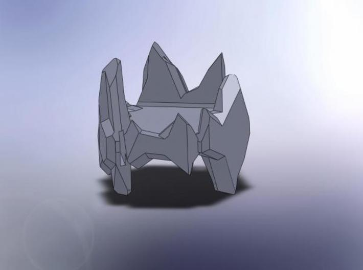 Crystal Turret 3d printed Description