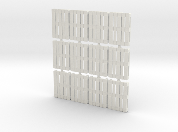 1/56th scale pallet pack (12 pieces) 3d printed