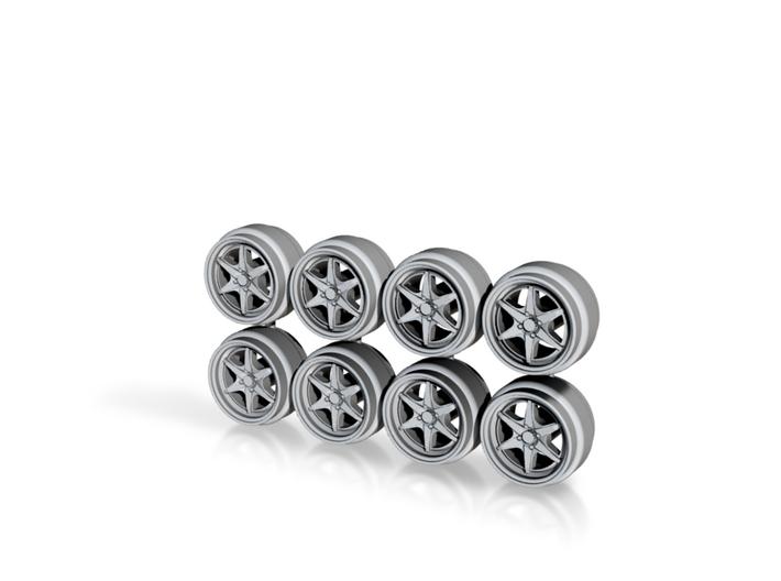 Hokuto Racing Thunder Hot Wheels Rims 3d printed